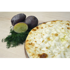 Пирог с картофелем и зеленым луком