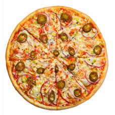 Пицца мясная с халапеньо